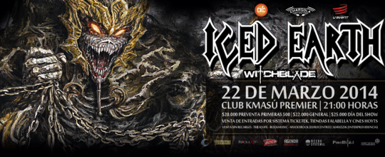 22 de Marzo: Iced Earth en Chile